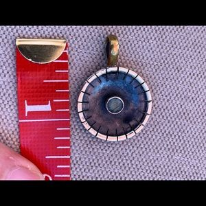 Jewelry - Artisan sterling and labradorite disc pendant